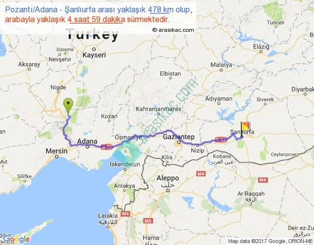 Pozantı Adana şanlıurfa Arası Kaç Km Saat